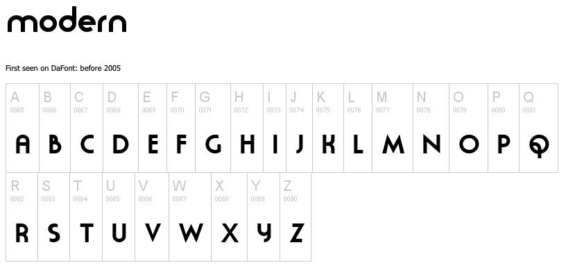Moderna - modern fonts 2020