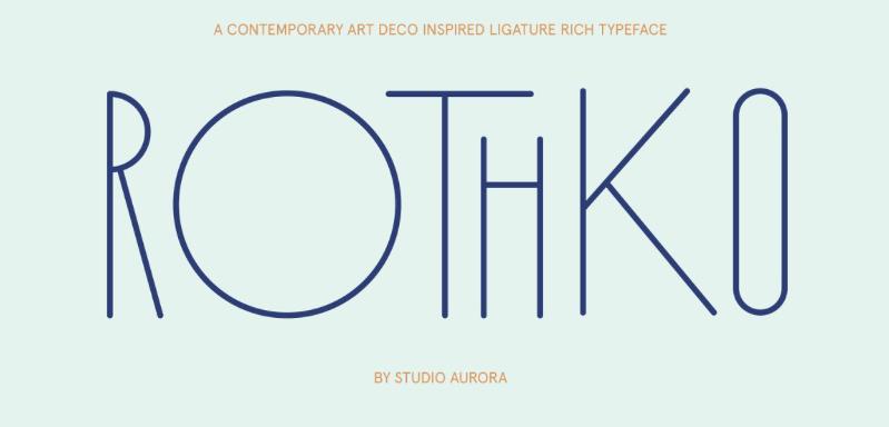 Rothko - modern fonts 2020