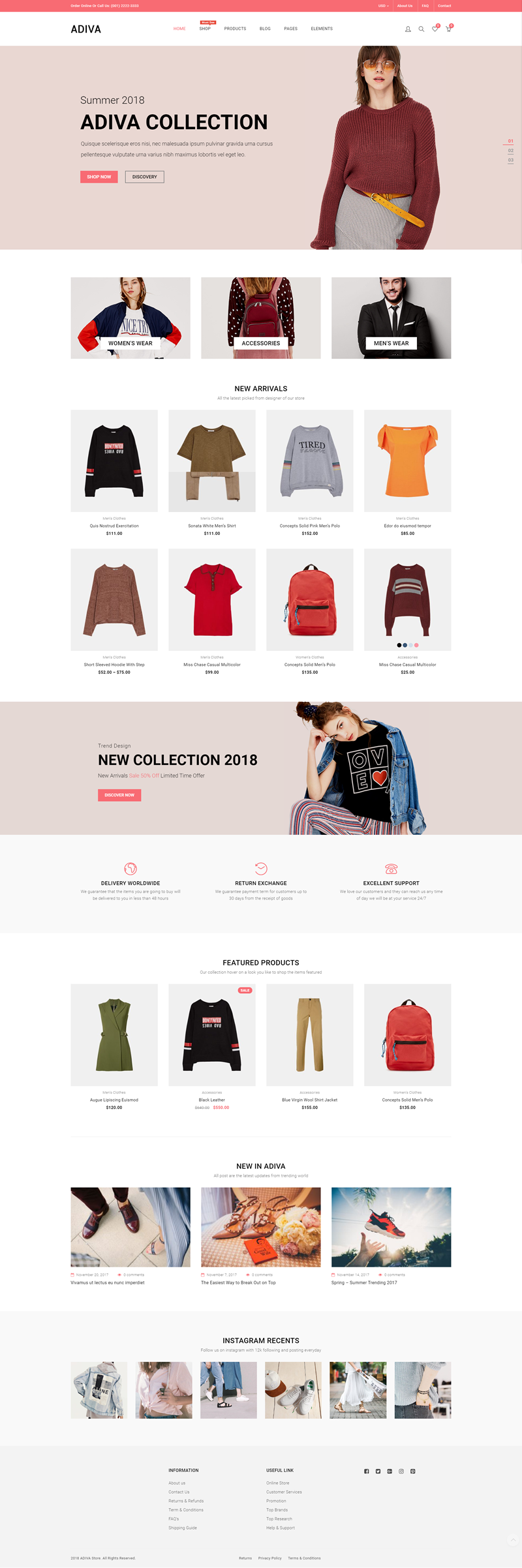 Adiva - Best Ecommerce Themes For WordPress