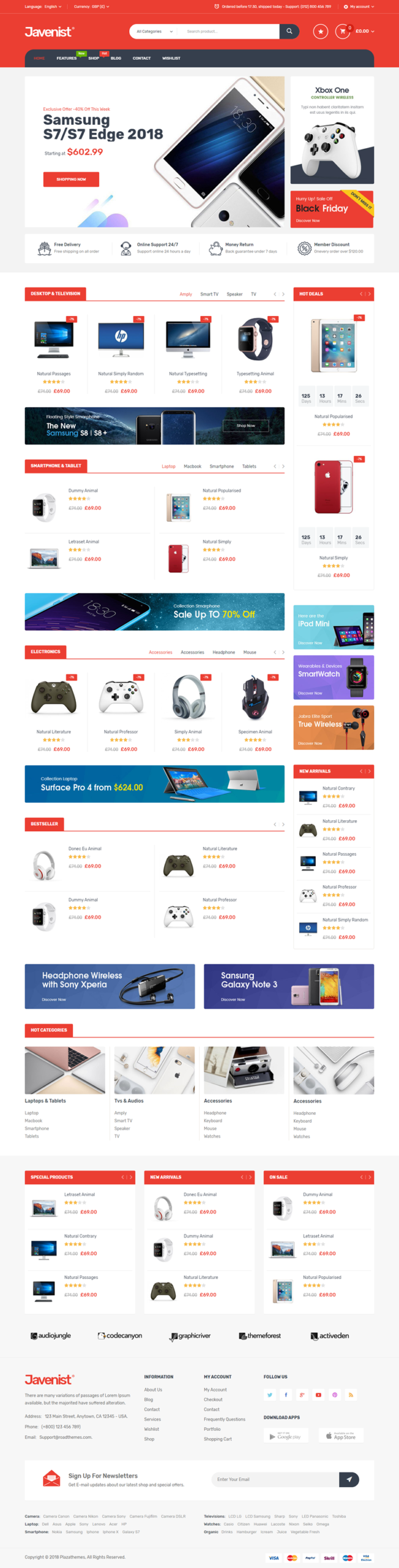 Javenist - Ecommerce Theme for WordPress
