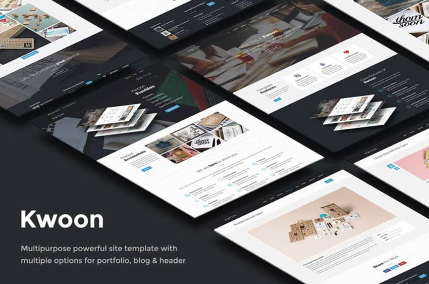 Kwoon Landing Page Template