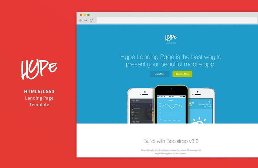 Hype Landing Page Template