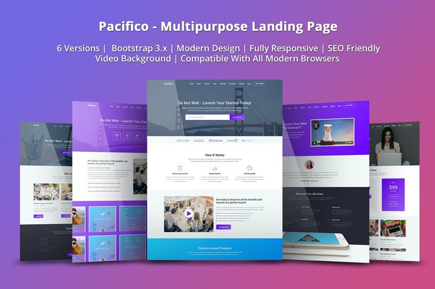 Pacifico Landing Page Template