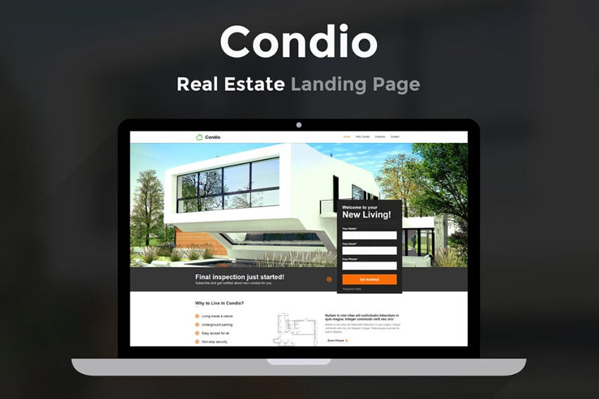 Condio Landing Page Template