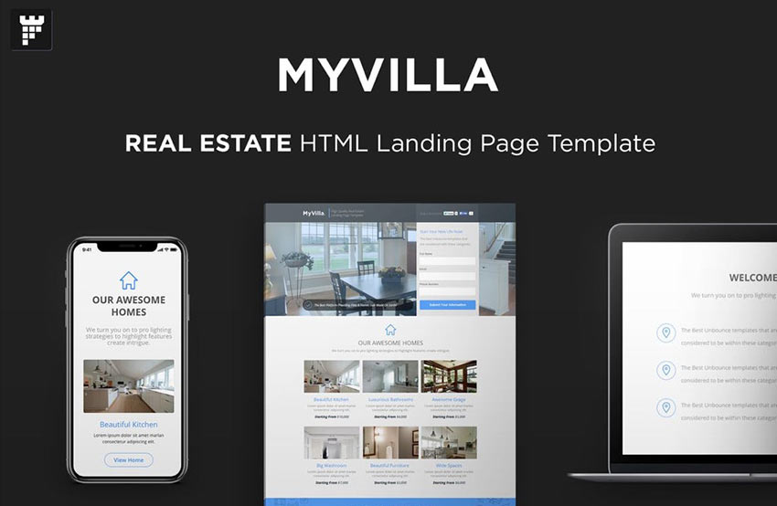 MyVilla Landing Page Template