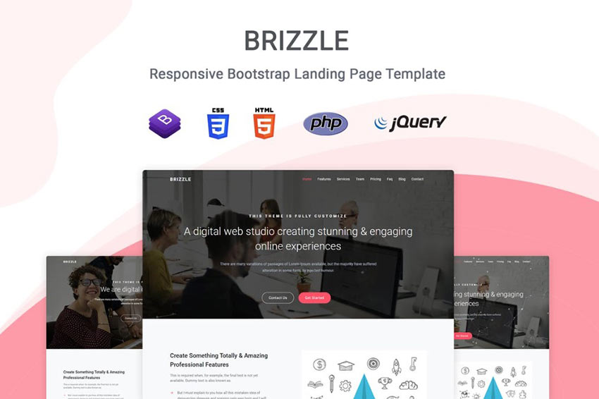 Brizzle Landing Page Template