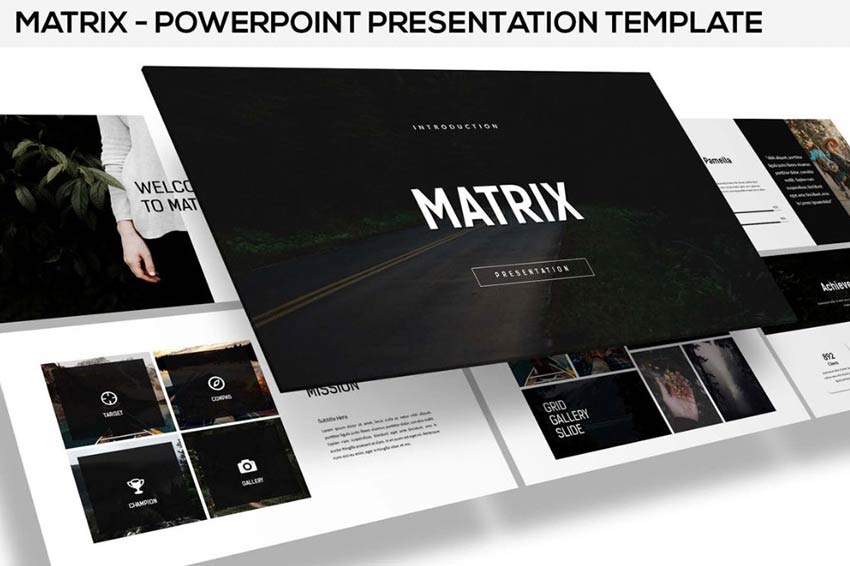 Example of Matrix - Minimal Powerpoint Presentation Template