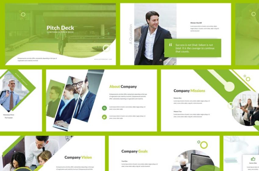Example of Pitch Deck Powerpoint Template