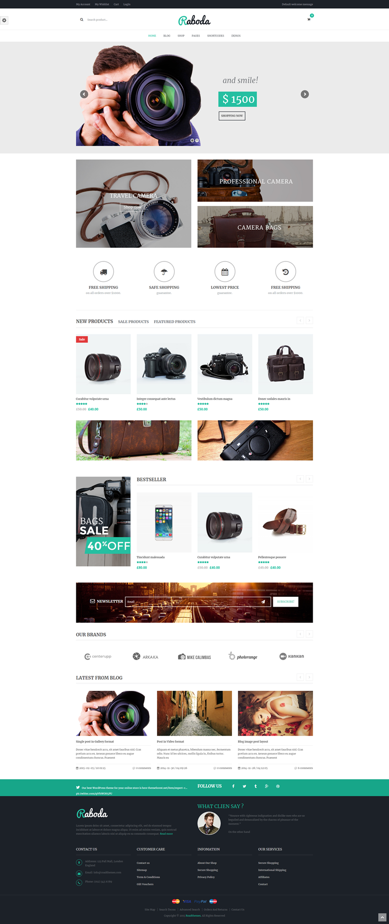 Raboda - Ecommerce Theme for WordPress