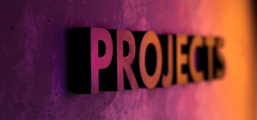 "A sign that reads ""PROJECTS""."