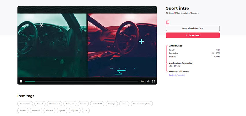 Video Intro Template from Envato Elements