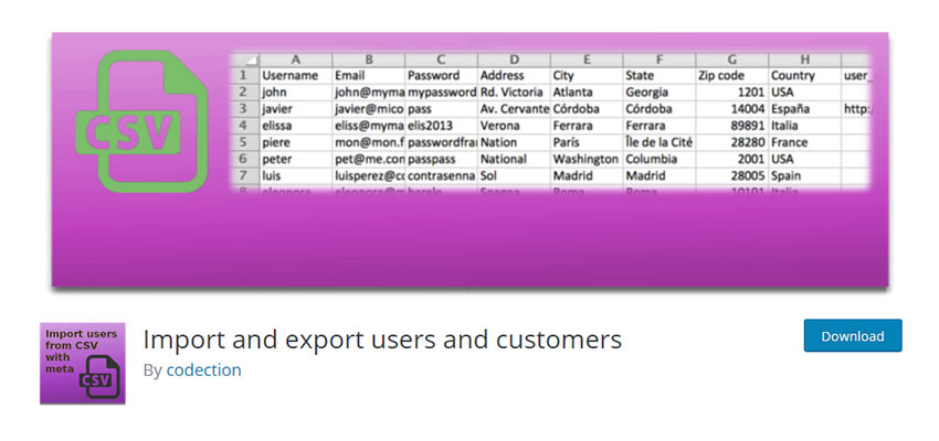 Import and Export Users and Customers WordPress Plugin