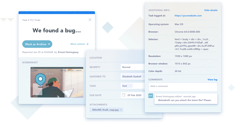 Bugherd technical feedback - easiest website feedback tool