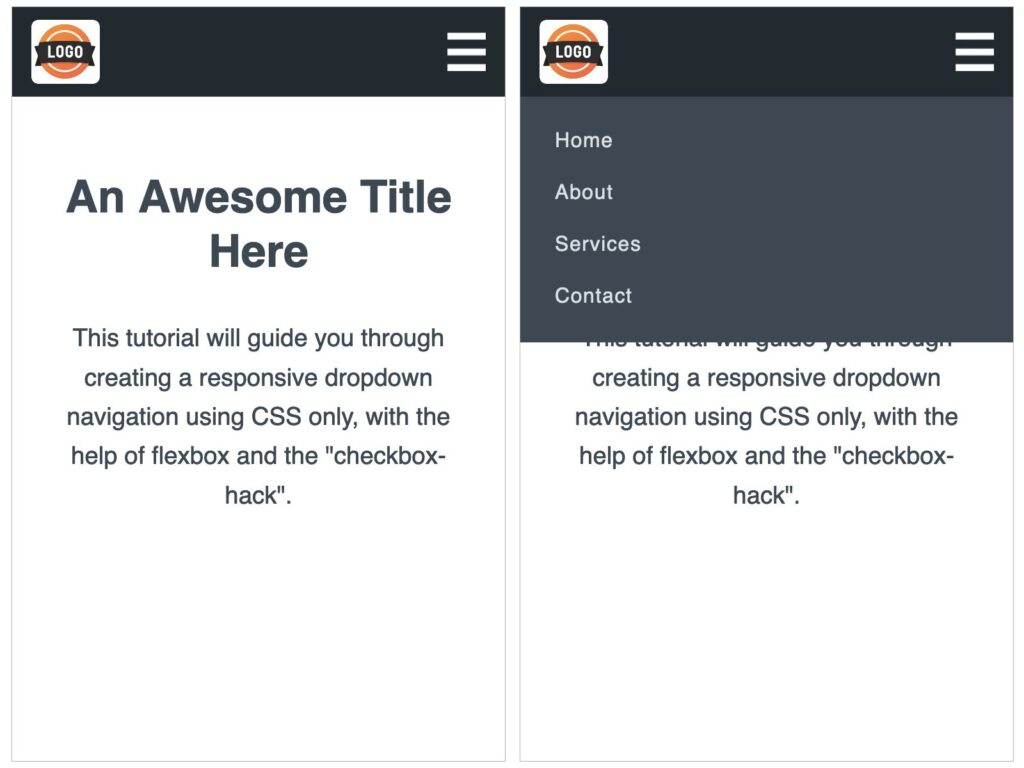 CSS Responsive Dropdown Navigation