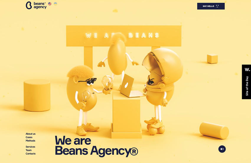 Example from Beans Digital Marketing Agency