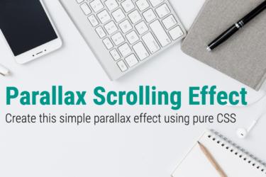 Pure CSS Parallax - Thumbnail