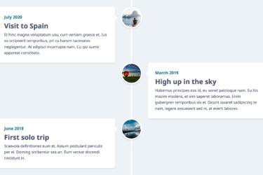 Responsive Timeline - Desktop View