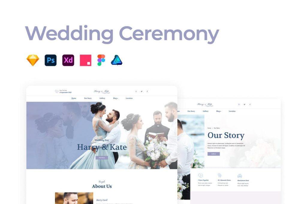 Wedding Ceremony Template - UX and UI kits