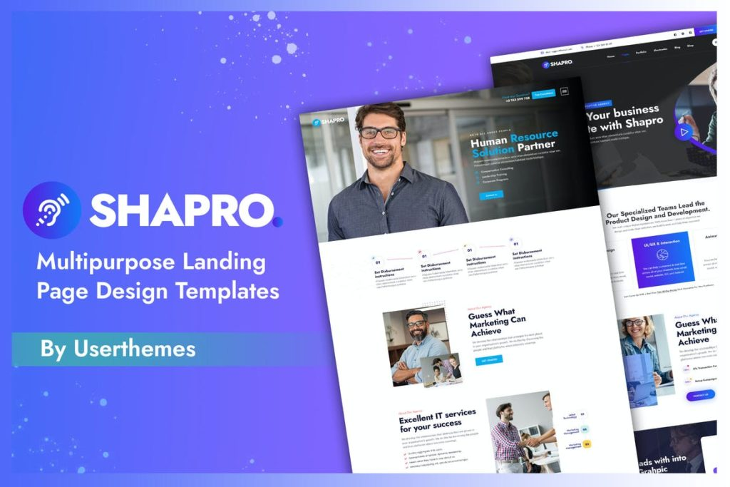 Agency Business Landing page Template - UX and UI kits