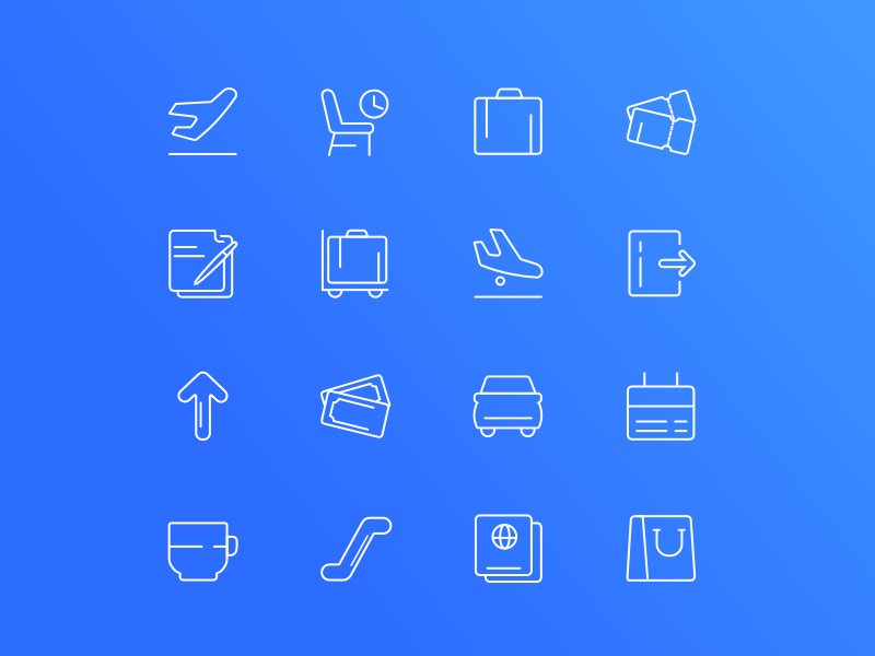 Airport - Downloadable Set of Icons