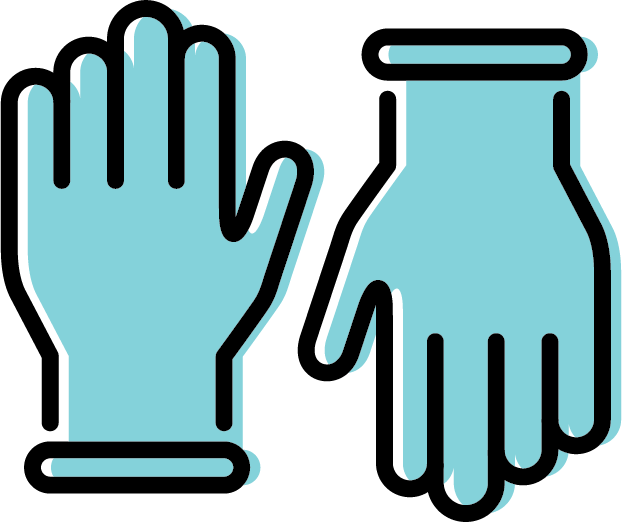 Free icon set - Gloves