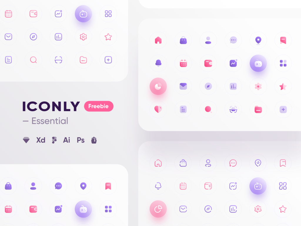 Free Minimal Icon Sets - Iconly