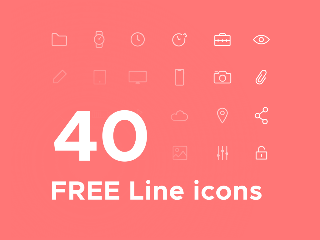 Free Minimal Icon Sets - 40 Free Line Icons