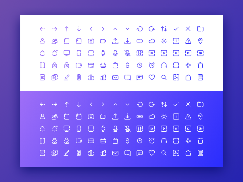 Free Minimal Icon Sets - Outline icons