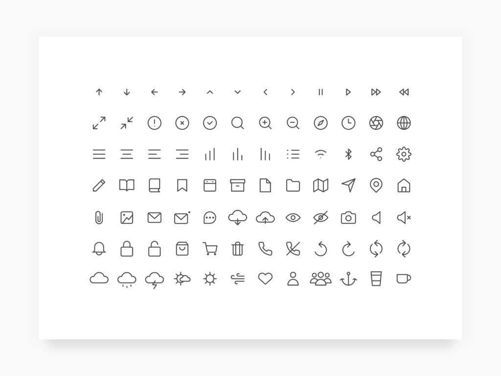 Daily UI Challenge #055 - Icon Set