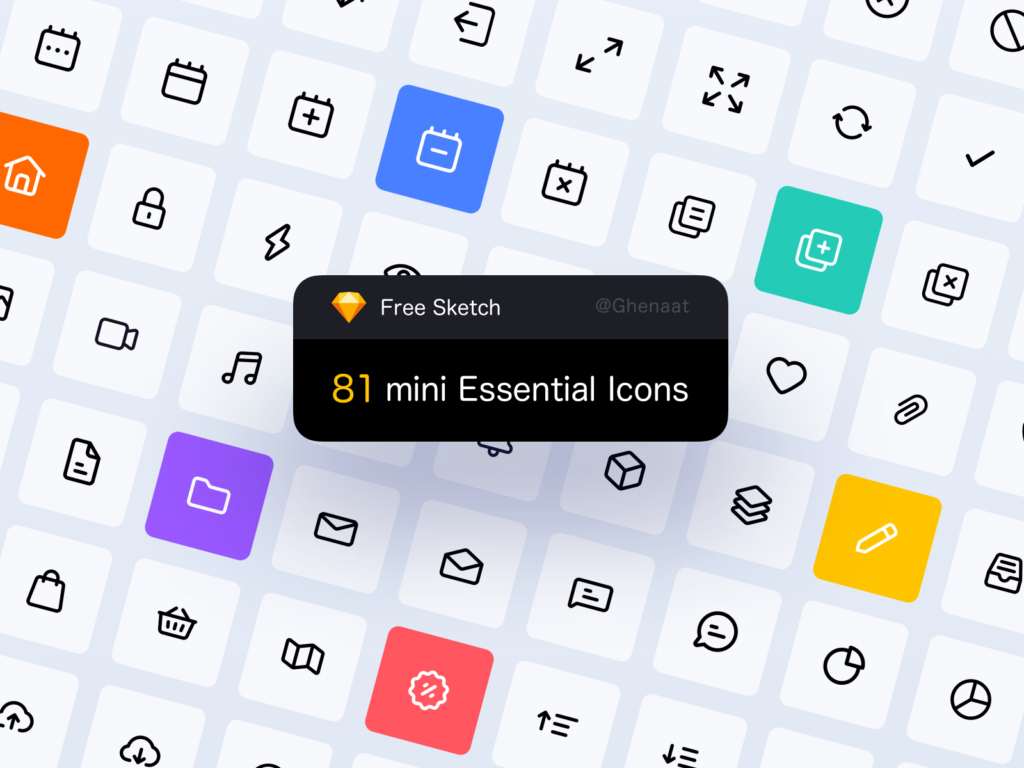 Free Minimal Icon Sets - Mini Essential
