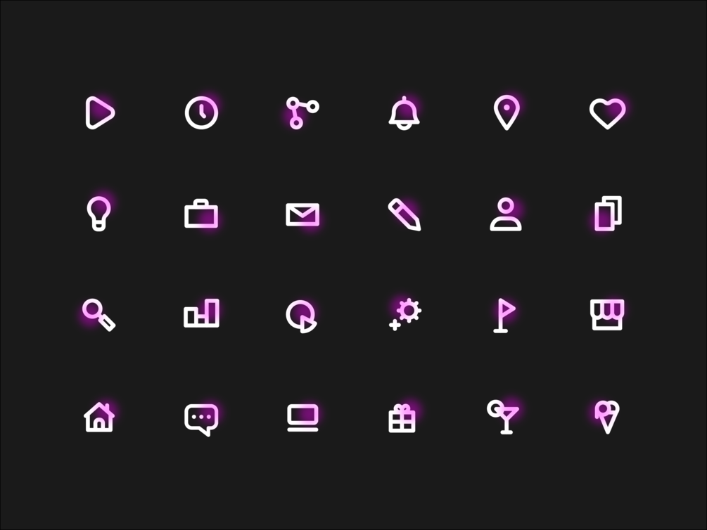 Neon Icons Freebie