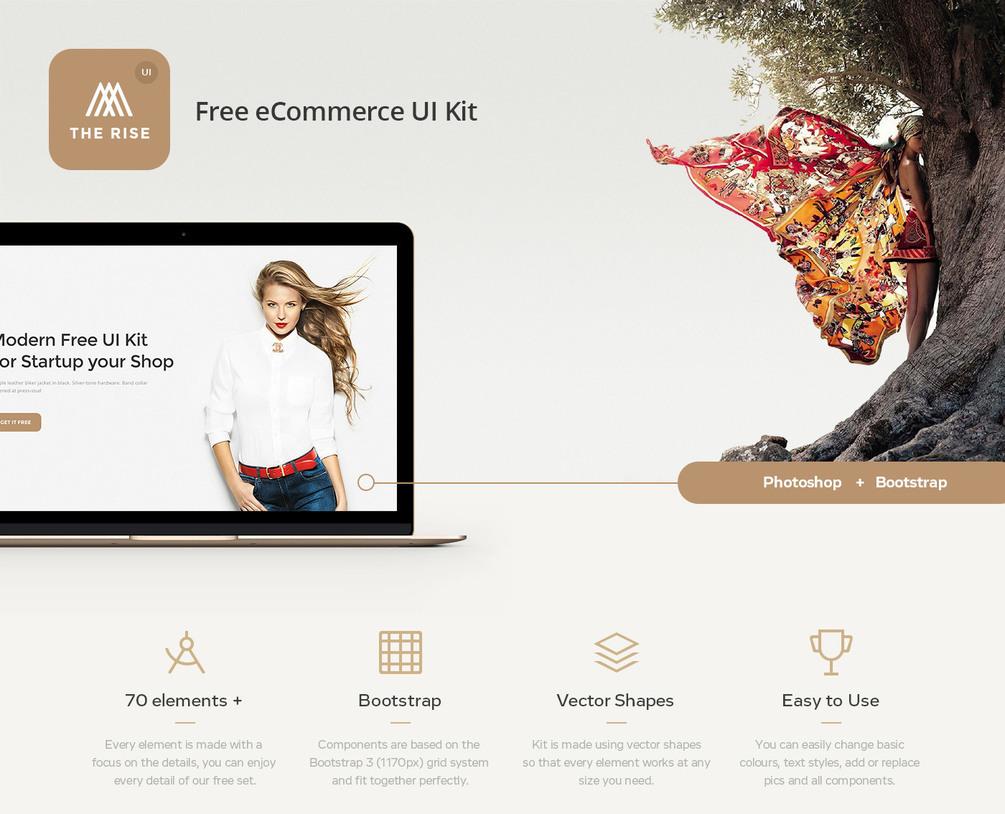 Rise Free eCommerce UI Kit