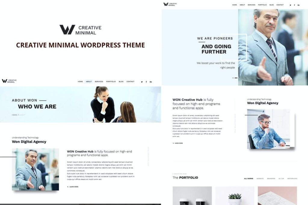 Top WordPress Themes - WON Creative Minimal WordPress Theme