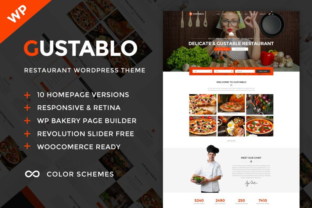 Top WordPress Themes - Gustablo