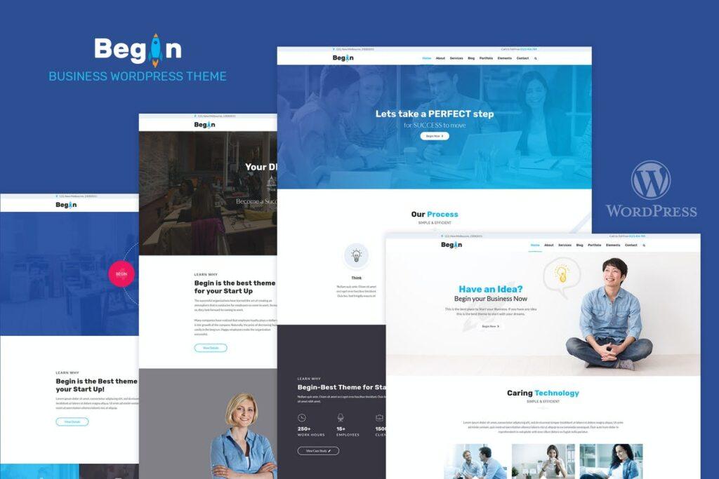 Top WordPress Themes - Begin Startup
