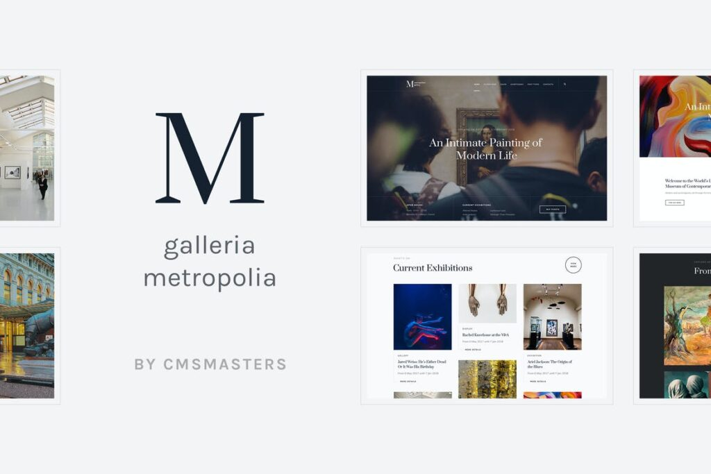 Top WordPress Themes - Galleria Metropolia - Art Museum & Exhibition