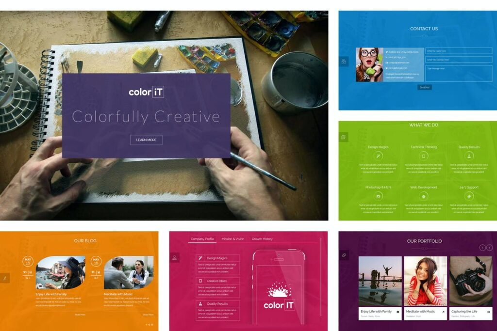 one page website templates - coloriT