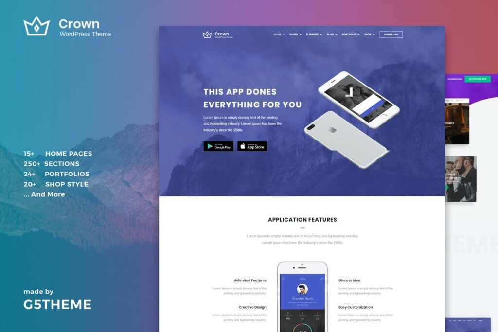 Crown - Multi Purpose WordPress Theme