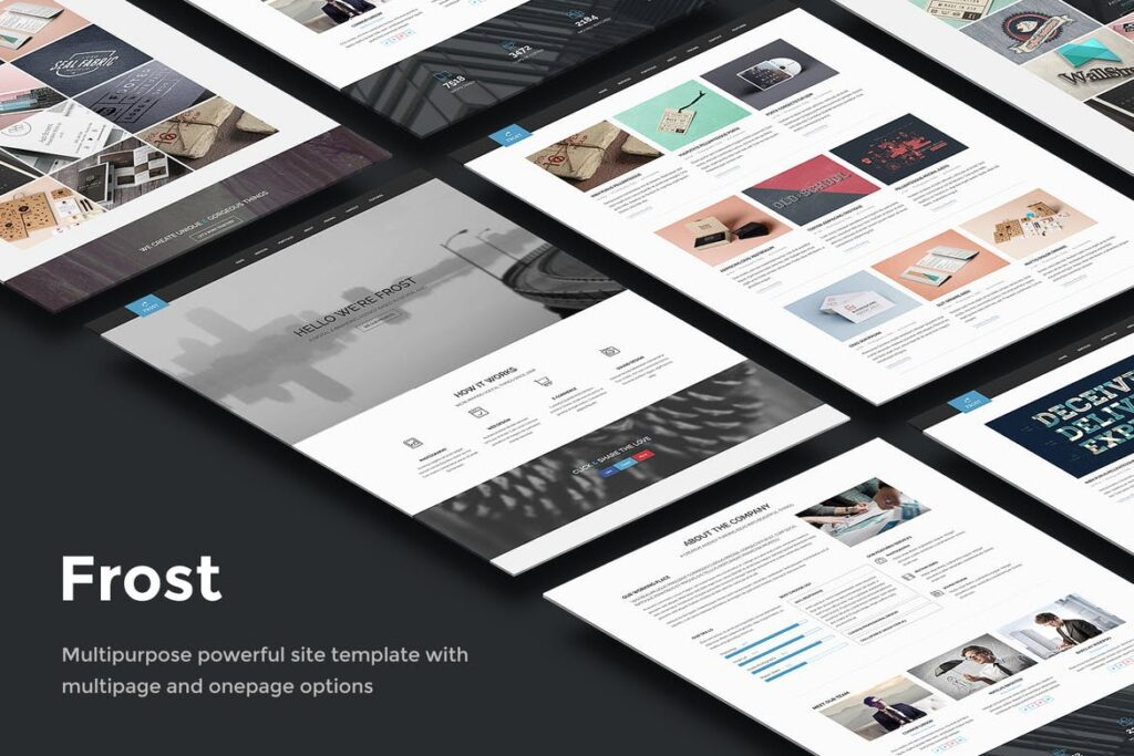 one page website templates - Frost
