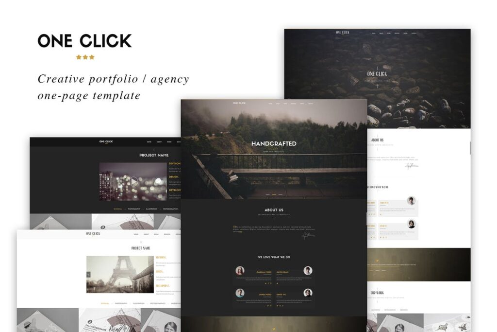 one page website templates - One Click