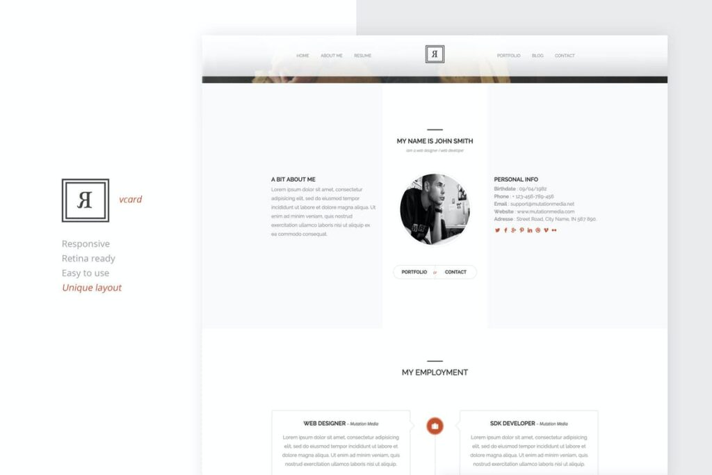 one page website templates - Rival