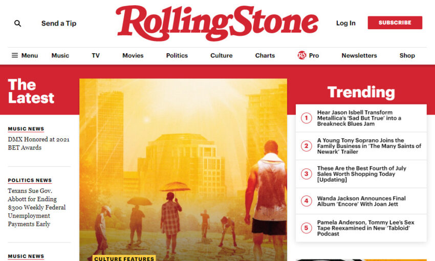 Rolling Stone - Built With WordPress
