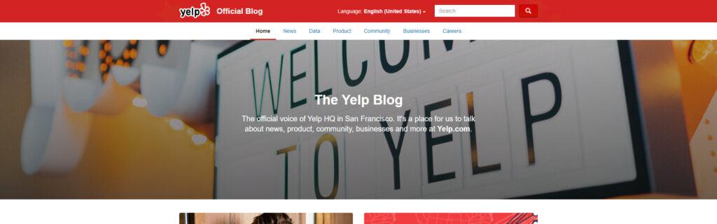 Yelp Blog - Built With WordPress