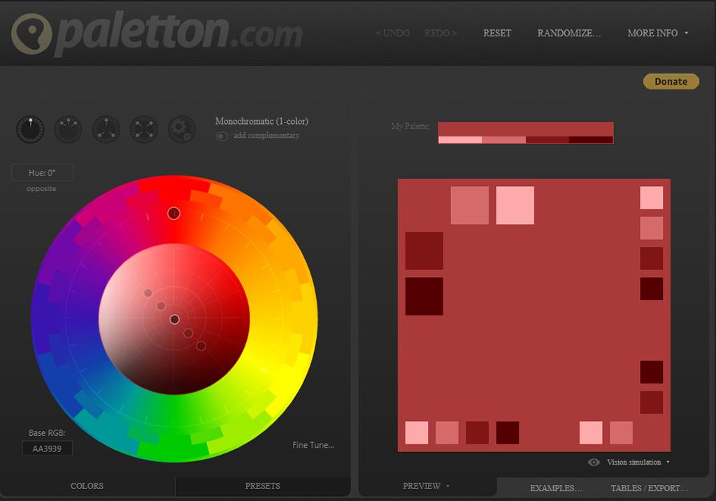 Paletton - color palette generator