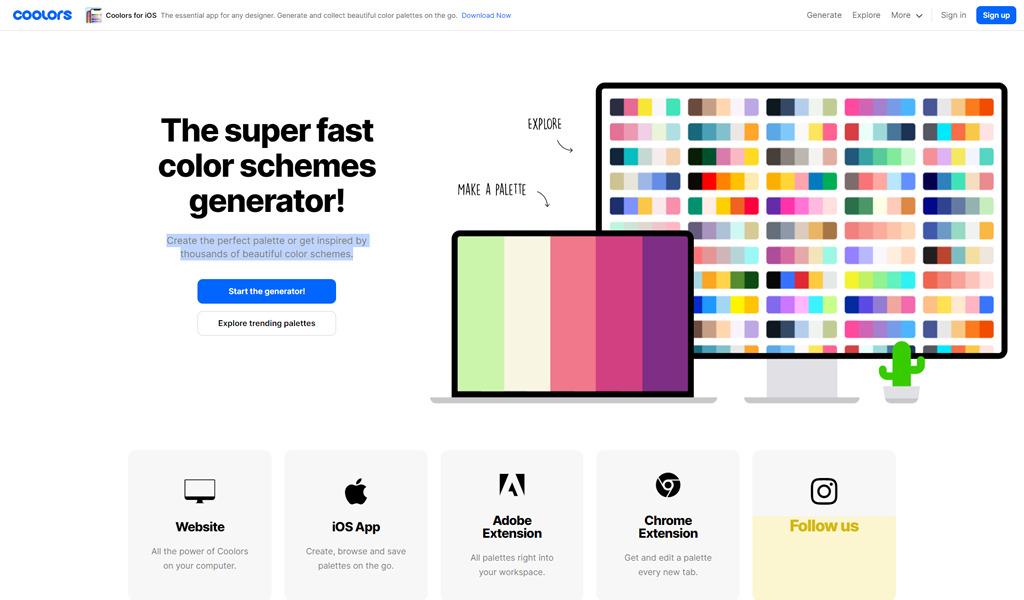 Coolors - color palette generator
