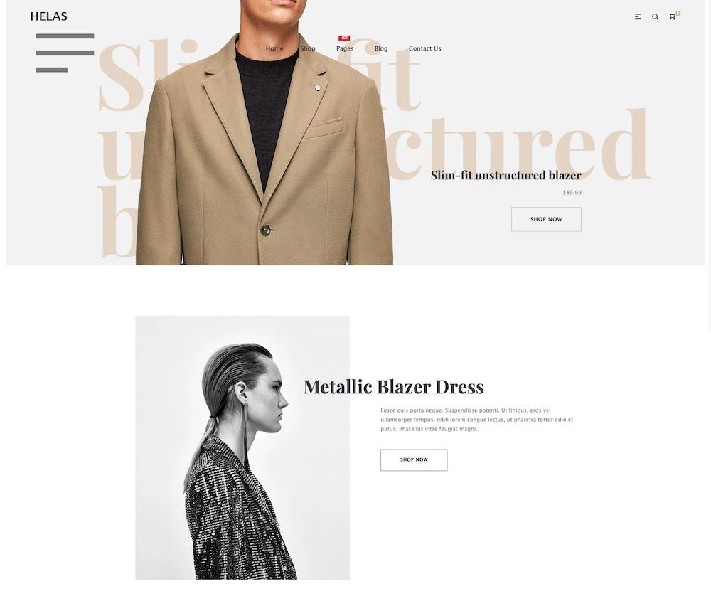 Helas Minimal Premium Shopify Theme