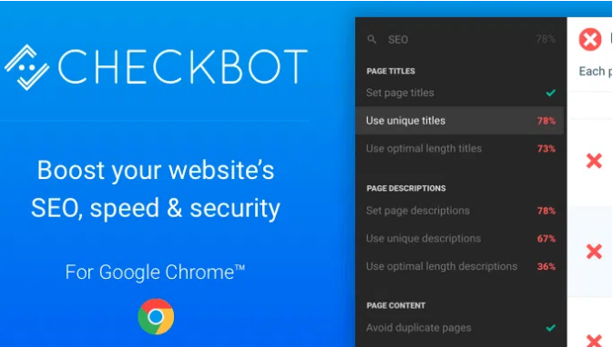 Checkbot - Helpful Chrome Extensions For Web Designers & Developers