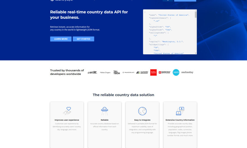 countrylayer - The Must-Have API for Any Website