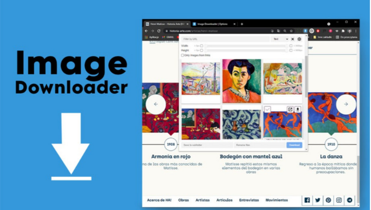 Image Downloader - Helpful Chrome Extensions For Web Designers & Developers