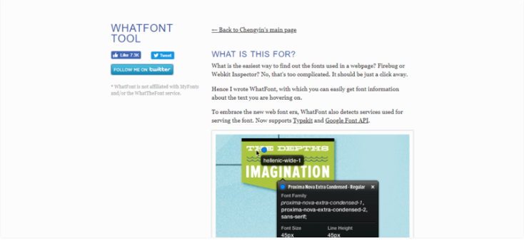 WhatFont - Helpful Chrome Extensions For Web Designers & Developers